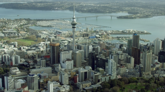 Aerial of Auckland City