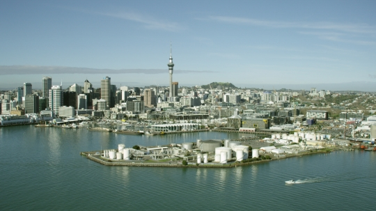 Aerial of Auckland City and CBD