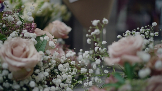 Close-up of beautiful floral arrangements