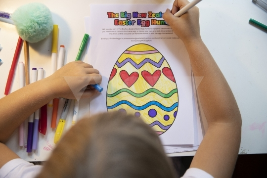 Children Take Part In The Big New Zealand Easter Egg Hunt During Coronavirus Lockdown